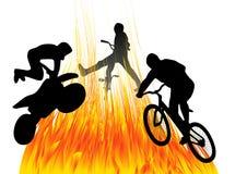 Gente y fuego libre illustration