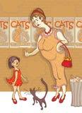Gente y gatos Imagenes de archivo