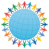 gente y globo/vector del color Foto de archivo libre de regalías