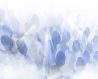 Gente y niebla fantasmales Fotografía de archivo