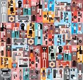 Gente y robots Fotografía de archivo libre de regalías