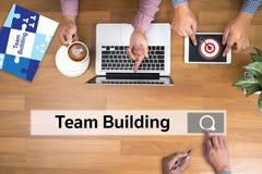Gente y Togethe de Team Building Partnership Cooperation Casual Foto de archivo