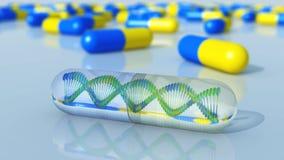 Gentechnikwissenschaftliches Konzept chromosom lizenzfreie abbildung