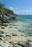 Genti Bay, St. John, USVI. This out-of-the-way beach on St. John, in the USVI, is the picture of serenity Stock Photos