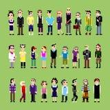 28 genti del pixel Immagine Stock