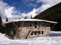 Gentiana shelter in Carpathian Mountains Stock Photos