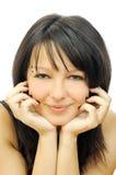 Gentil brunette de sourire frais images stock