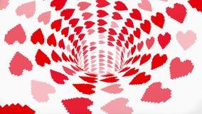 Gentil frais de boucle de vol de tunnel d'entonnoir de trou de ver de coeur de pixel d'animation de fond de nouveau de qualité st illustration libre de droits