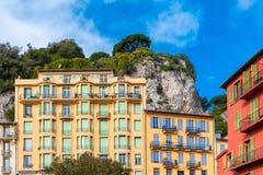 Gentil, France, belles maisons images stock