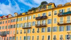 Gentil, France, façade colorée image libre de droits