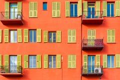 Gentil, France, façade colorée photo stock