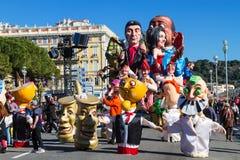 Gentil, Frances, carnaval de Nice photos libres de droits