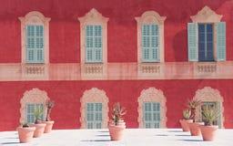 GENTIL, FRANCES - mars 2018 : Façade du musée de Matisse photographie stock