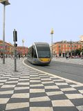 Gentil, Frances, place de Massena, tramway approche 2 photos libres de droits