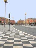 Gentil, Frances, place de Massena, tramway s'approche photos stock