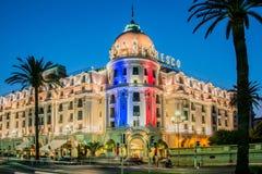 GENTIL - 5 JUILLET : Hôtel de Negresco à Nice le 5 juillet Image libre de droits
