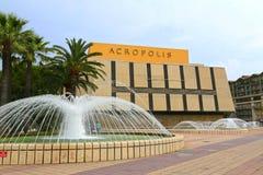 Gentil, la France - 14 juin 2014 : Centre de convention d'Acropole image stock