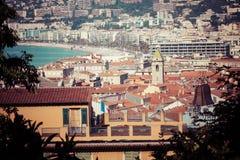 GENTIL, LA FRANCE - 4 JUIN 2019 : Vue de vieille ville à Nice ` Azur France de Cote d france photo libre de droits