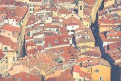 GENTIL, LA FRANCE - 4 JUIN 2019 : Vue de vieille ville à Nice ` Azur France de Cote d france photographie stock libre de droits