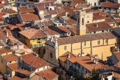 GENTIL, LA FRANCE - 4 JUIN 2019 : Vue de vieille ville à Nice ` Azur France de Cote d france photos stock