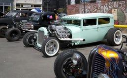 Gentil salon automobile de vintage dans la ville Dallas photographie stock