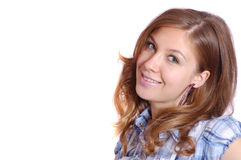 Gentille fille de sourire Photographie stock libre de droits