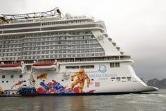 Genting Dream cruises in Hong Kong Royalty Free Stock Image
