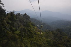 Genting Highlands. The cable car up on Genting Highlands Royalty Free Stock Photography