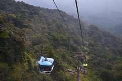 Genting Highlands. The cable car up on Genting Highlands Royalty Free Stock Images