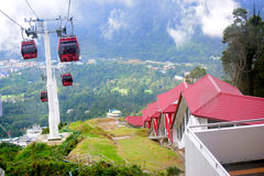 Genting Highlands. The cable ride to the top of Genting Highlands offers a picture postcard view of the forested land and lodgings below Stock Photography