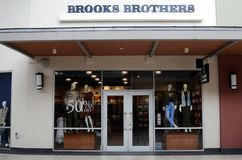Brooks Brothers store in Genting Highlands Premium Outlet, Malaysia. GENTING HIGHLANDS, MALAYSIA- DEC 03, 2018 : Brooks Brothers store in Genting Highlands stock images