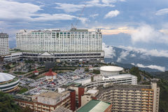 Genting Hotel. Accommodation above cloud in Maxims Genting hotel in Malaysia with parking lots at dawn Stock Image