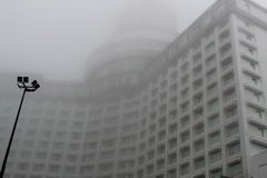 Genting Island resort in clouds Stock Photos