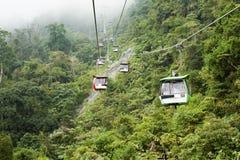 Genting Skyway缆车 免版税库存照片