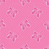 Gentle поставленный точки шнурок с бабочками Стоковое Фото
