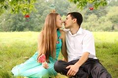 Gentle поцелуй Стоковые Изображения