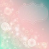 Gentle abstract background with bokeh effect. Vector illustration stock illustration