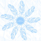 Gentle abstract background with feather. Fashion illustration Stock Illustration