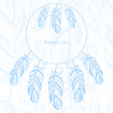Gentle abstract background with feather. Fashion illustration Stock Image