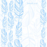 Gentle abstract background with feather. Fashion illustration Stock Photos