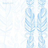 Gentle abstract background with feather. Fashion illustration. Vector Royalty Free Illustration