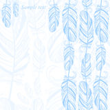 Gentle abstract background with feather. Fashion illustration. Vector Vector Illustration