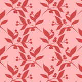 Gentle abstract vector seamless floral  pattern Stock Images