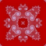 Gentle abstract white  ornament in red background Royalty Free Stock Image