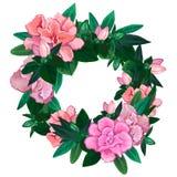 Gentle azalea wreath Stock Photo