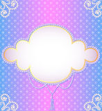 Gentle background frame with a pearl ornament Stock Photography