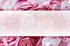 Gentle background from pink buds, one of a large set of floral backgrounds. Delicate background with pink roses, place for text, for design use Stock Photos