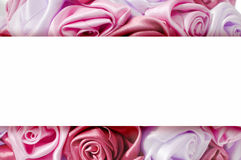 Gentle background from pink buds, one of a large set of floral backgrounds. Delicate background with pink roses, place for text, for design use Royalty Free Stock Photo