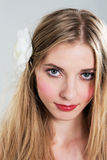 Gentle beauty. Portrait of a gentle young woman Royalty Free Stock Image