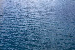 Gentle Blue Ocean Water Waves royalty free stock photo